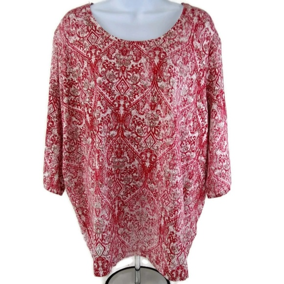 0b787afc607d Catherines Tops | Petite Womens Red Paisley Shirt 3xwp | Poshmark